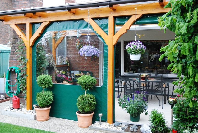 terrassenverkleidung vordachplanen wintergarten vom planenmacher bootsverdeckbau jolanthe. Black Bedroom Furniture Sets. Home Design Ideas